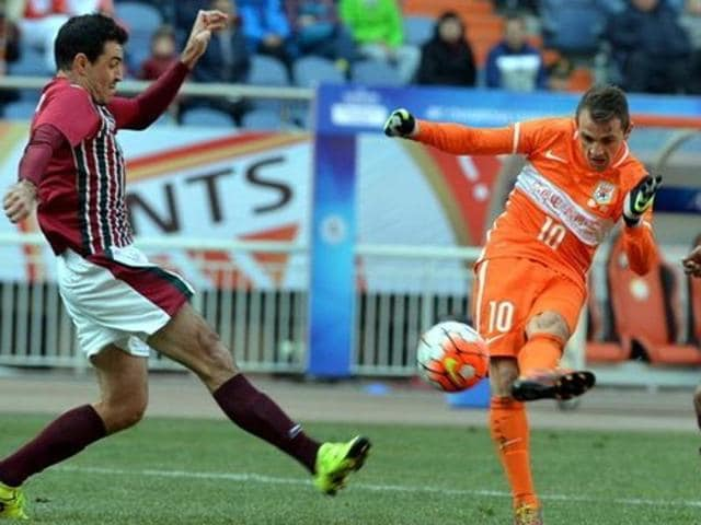 Chinese club Shandong Luneng humiliated current I-League champions Mohun Bagan 6-0 in an AFC Champions league match.