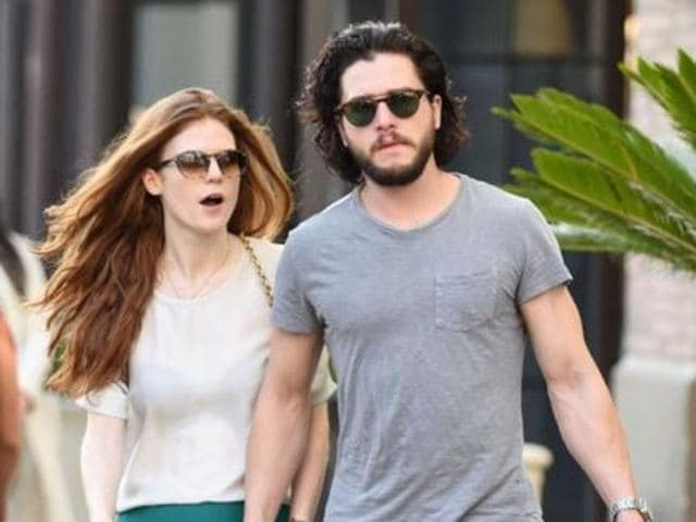 The 'former' flames were seen holding hands and even shared a kiss, reported People magazine.