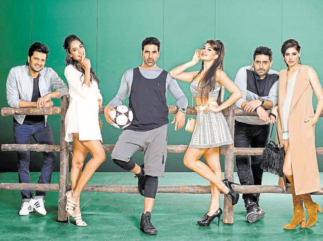 A promotional still from Housefull 3.