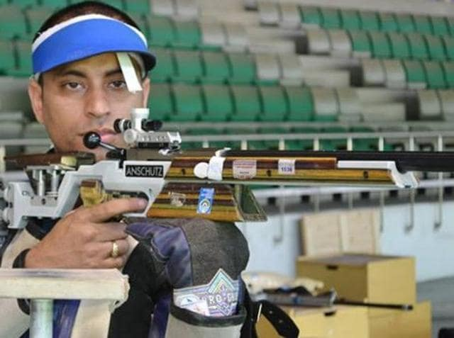 Sanjeev Rajput clinched the  Olympic quota for men's 50m three-position rifle category.