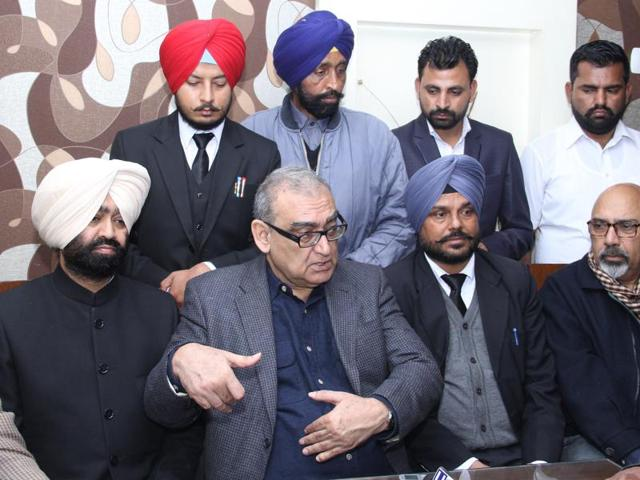 Justice Markandey Katju  during an interaction with the mediapersons.