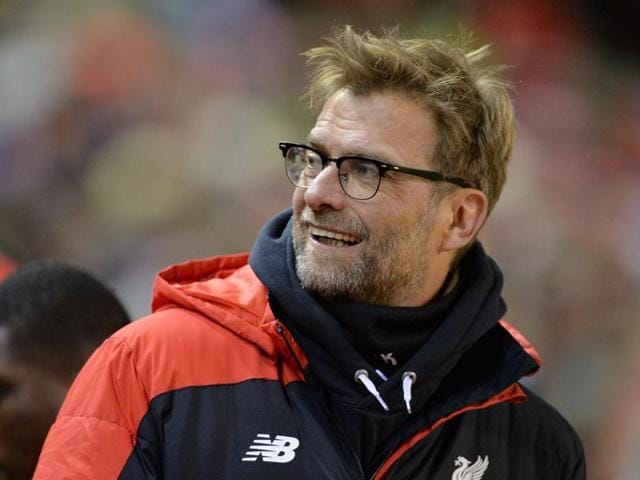 Liverpool manager Juergen Klopp reacts during their FA Cup match against West Ham.