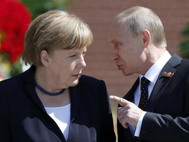 Angela Merkel,Vladimir Putin,Russia