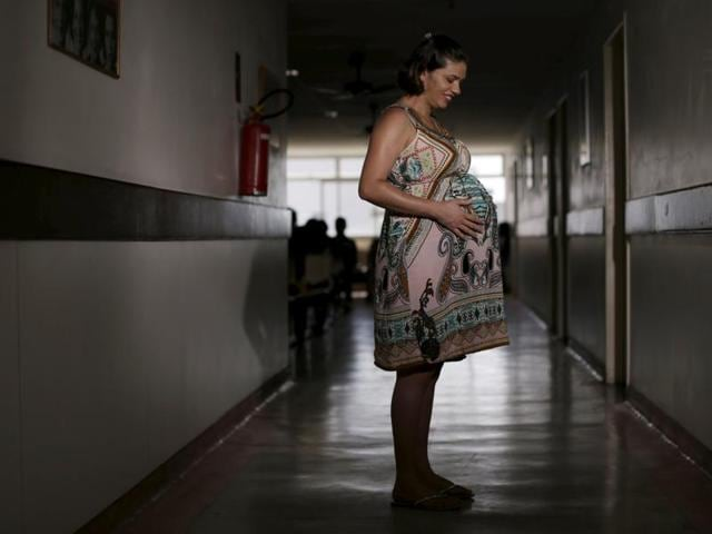 Juliana Gomes, who is eight months pregnant poses for a picture at the IMIP hospital in Recife, Brazil, January 28, 2016. Worried about being infected by the fast-spreading mosquito-borne Zika virus during her pregnancy, Juliana thinks that the birth of her daughter will be a personal victory.