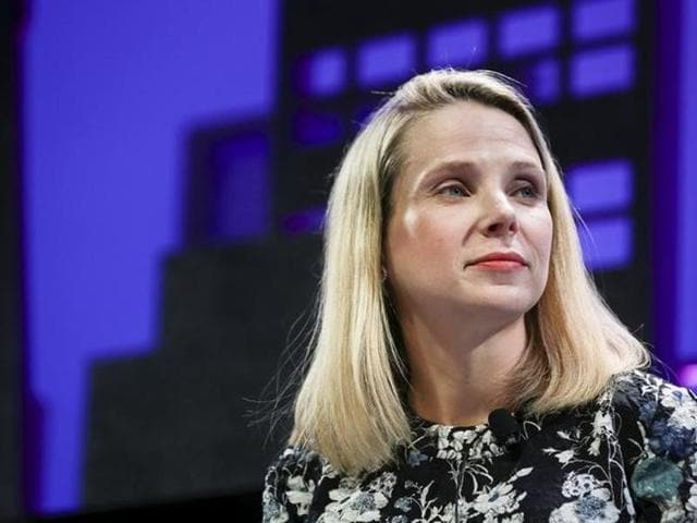 Marissa Mayer, President and CEO of Yahoo, participates in a panel discussion at the 2015 Fortune Global Forum in San Francisco, California.