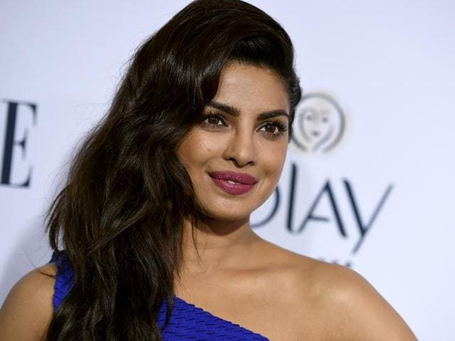 Priyanka Chopra poses at ELLE's Annual Women in Television dinner in Los Angeles, California on January 20.