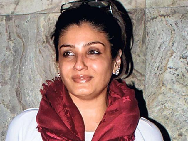 Raveena Tandon spotted at a movie screening in Santacruz, Mumbai.