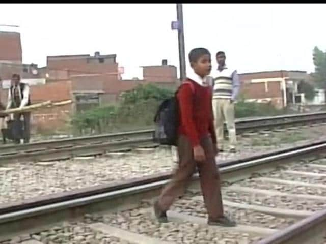 In the letter, the Class VII student wrote about how the absence of a crossing at the railway tracks between his locality and the school meant he and other students had to take a longer route every morning .
