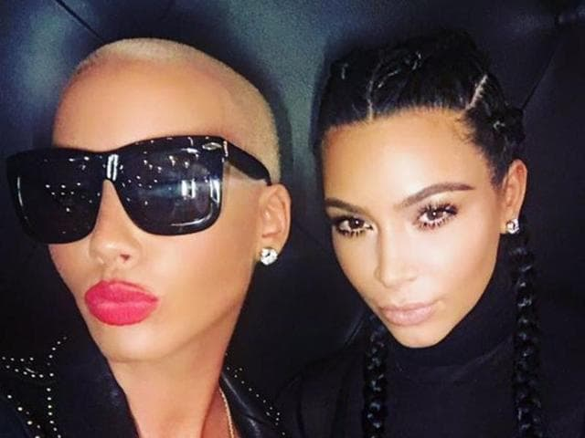 Amber Rose and West's wife Kim Kardashian uploaded a photo together on Instagram.
