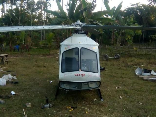 An automobile mechanic, Sharma spent more than Rs15 lakh to design the helicopter with metal sheets, car seats and two SUV engines.