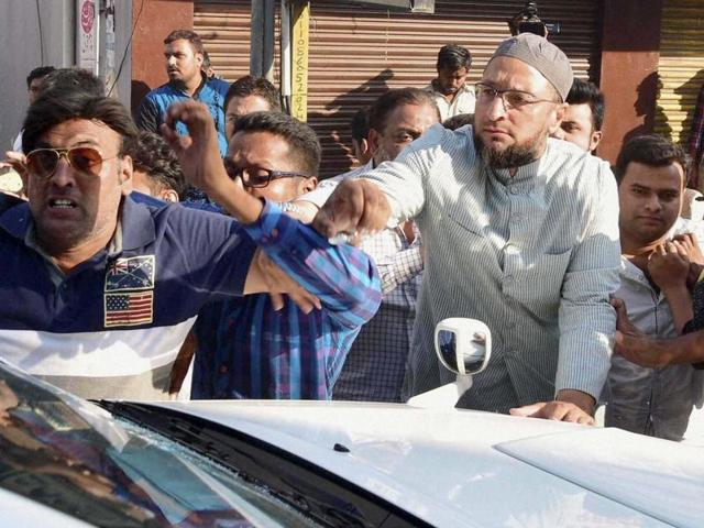Owaisi booked for alleged attack on Cong MLC during GHMC polls clash
