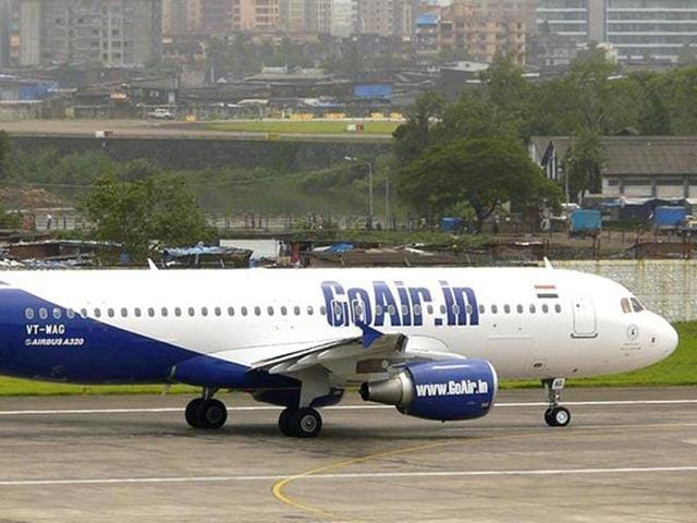 GoAir flight, G8 145 had to be delayed following a call that said some people carrying weapons in the plane. (Photo: GoAir)