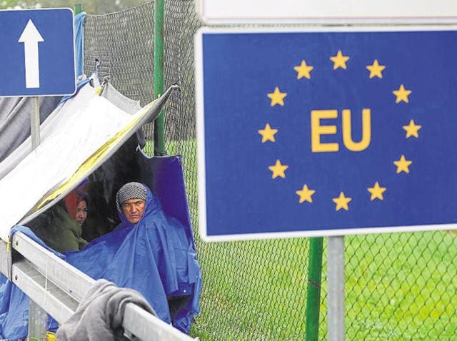 The nations of the EU agreed that holding the refugees in camps, distributing them after vetting and processing them to make sure they are genuinely fleeing war and terror and supervising their absorption into Europe are just one part of a 'solution'reuters.