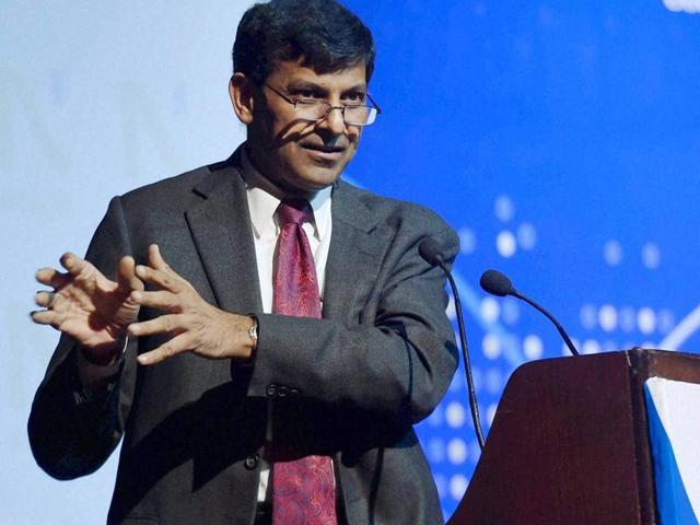 "RBI Governor Raghuram Rajan delivers the NCAER's fourth C D Deshmukh memorial lecture on ""Financial Sector Reforms in India: The Past and the Future"", in New Delhi on Friday."