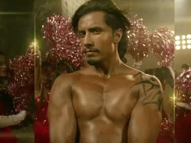Ali Zafar in a still from his item song, Six Pack Abs (Tere Bin Laden 2).