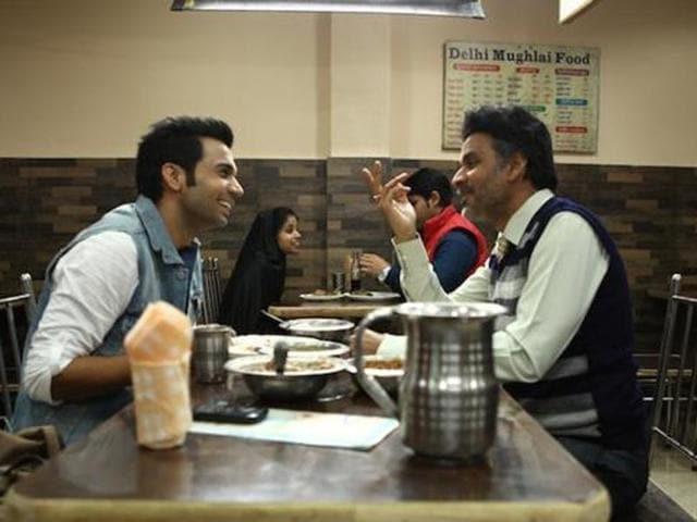 Rajkummar Rao and Manoj Bajpayee in a still from Aligarh. (YouTube)