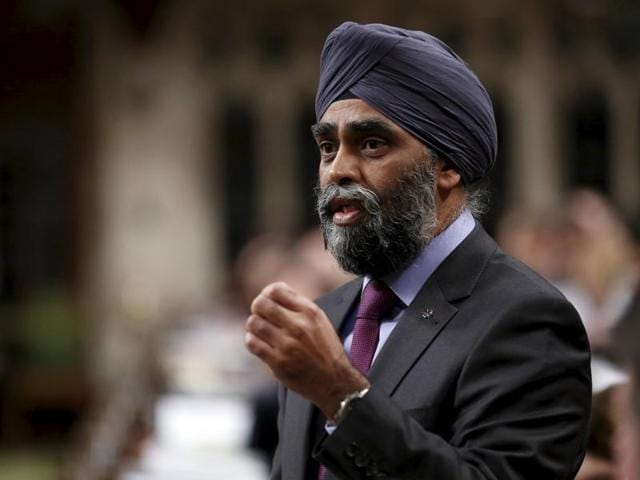 Canada's Defence Minister Harjit Sajjan speaks during Question Period in the House of Commons on Parliament Hill in Ottawa.