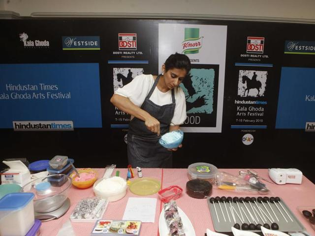 A file photo of a food workshop at the Kala Ghoda Arts Festivals last year.