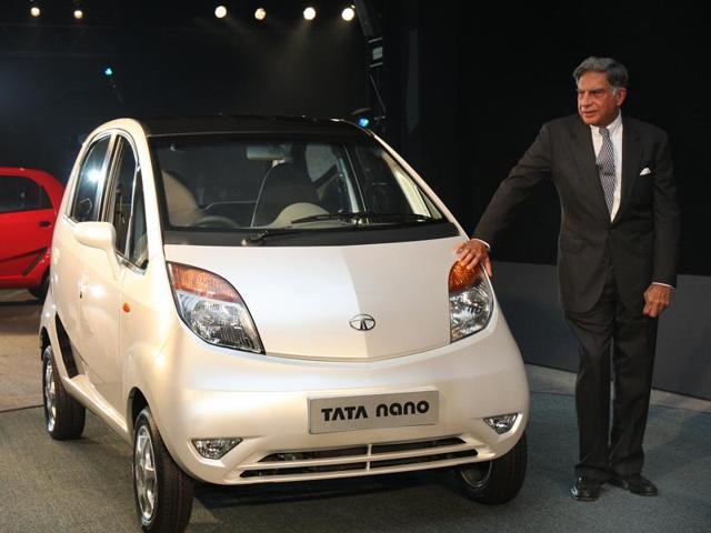 Tata Company Chairman Ratan Tata During launched Tata Nano at the 9th Auto Expo in New Delhi, Thursday, Jan. 10, 2008.