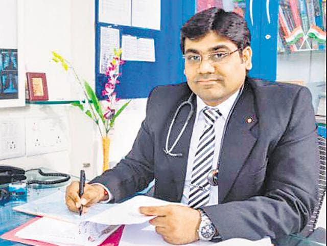 Dr Vikas Oswal  has been treating people who have developed health problems from the fire at the Deonar dumping ground.