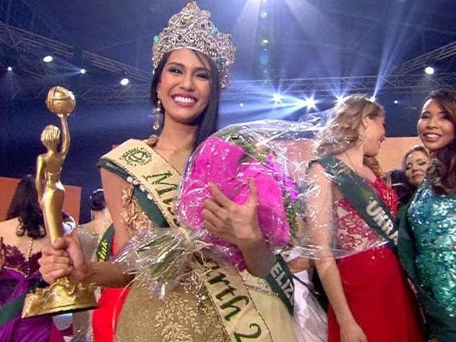 Miss Philippines Angelia Ong is Miss Earth 2015. The woman who wins Miss Earth India will compete with women from all over the world for the crown of Miss Earth.