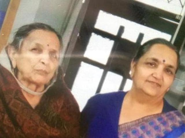 Ola Cabs CEO Bhavish Aggarwal's grandmother Pushpawati Aggarwal (84) (left) and aunt Dr Sarita Aggarwal (55) (right) were found dead in their house at the Sher-e-Punjab Colony in Ludhiana on January 9.