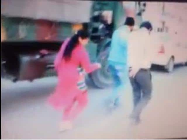 A still from the video which went viral.