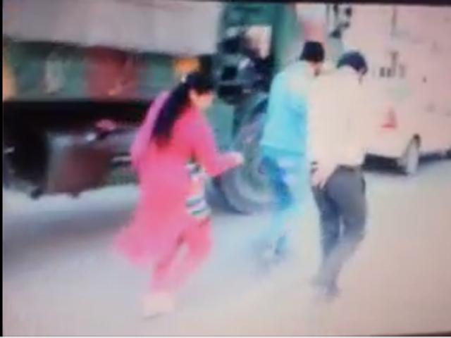 Viral video: Patiala woman thrashes gas agency worker over 'vulgar' talk
