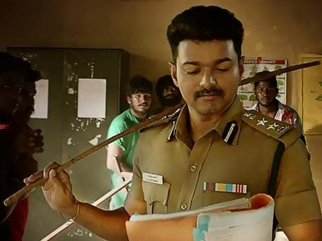 A 50-second teaser of Theri starring Vijay, released on Friday, shows vignettes of a man on a path of revenge and retribution.