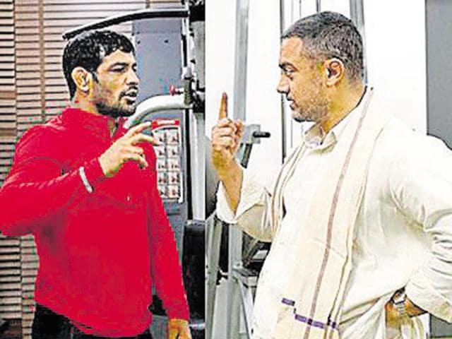 Aamir Khan,Sushil Kumar,Aamir plays Wrestler