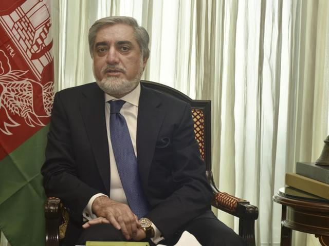 Chief executive officer of Afghanistan Abdullah Abdullah during an interaction with Hindustan Times in New Delhi.