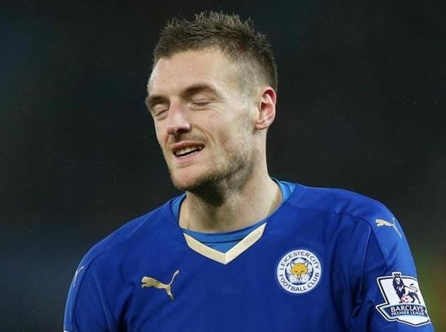 Premier League's top two scorers are England's Jamie Vardy (18 goals) and Harry Kane (15).