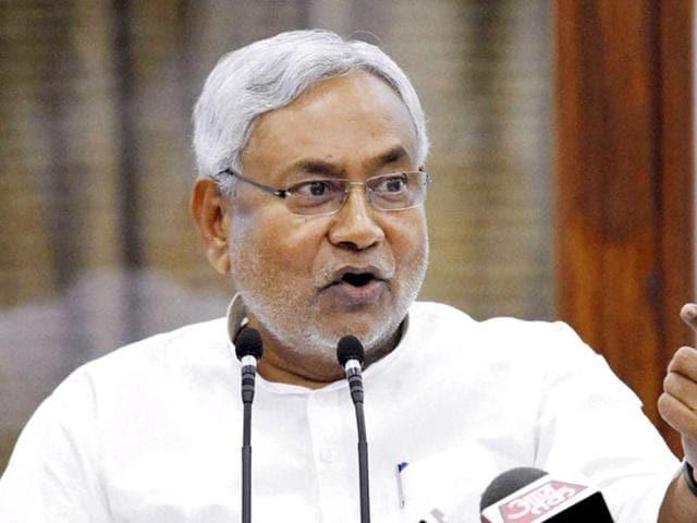 Bihar chief minister Nitish Kumar.(PTI photo)