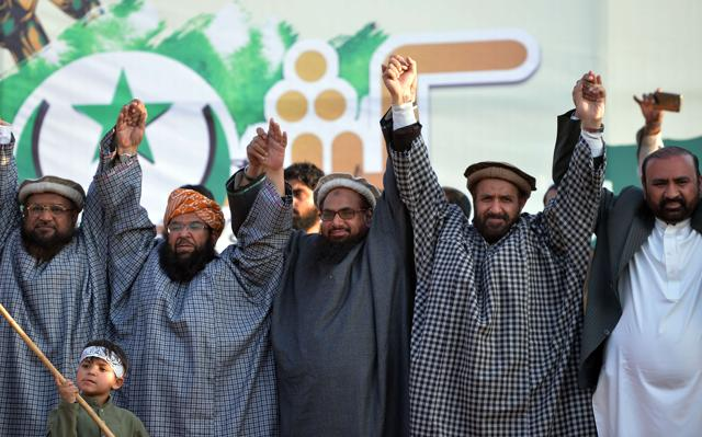 Hafiz Saeed, along with other religious party leaders, carried out a anti-India rally in Islamabad on Friday.