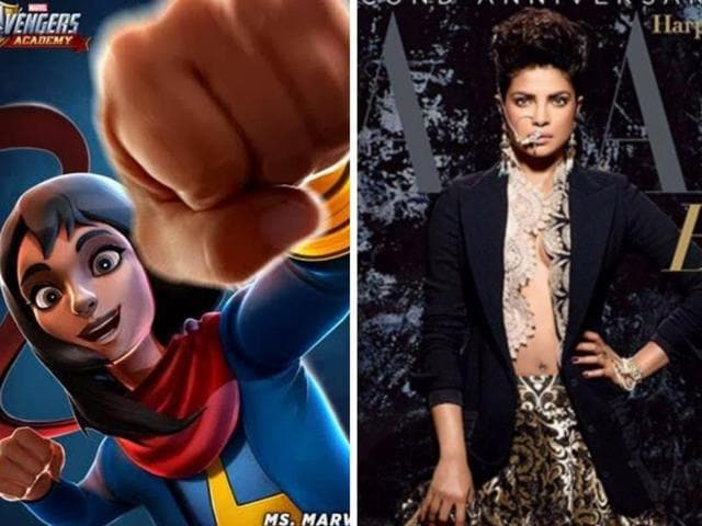 Priyanka has given her voice to the animated character Ms. Marvel from the game, Marvel Avengers Academy.