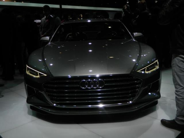 German auto giant Audi also displayed Audi Prologue Concept. The two-door coupe marks a new beginning for the design philosophy from Audi. Under the hood goes a 4.0 TFSI biturbo V8, which generates 597bhp power along with a twist of 700Nm. (Gulshankumar Wankar/ HT Photo)
