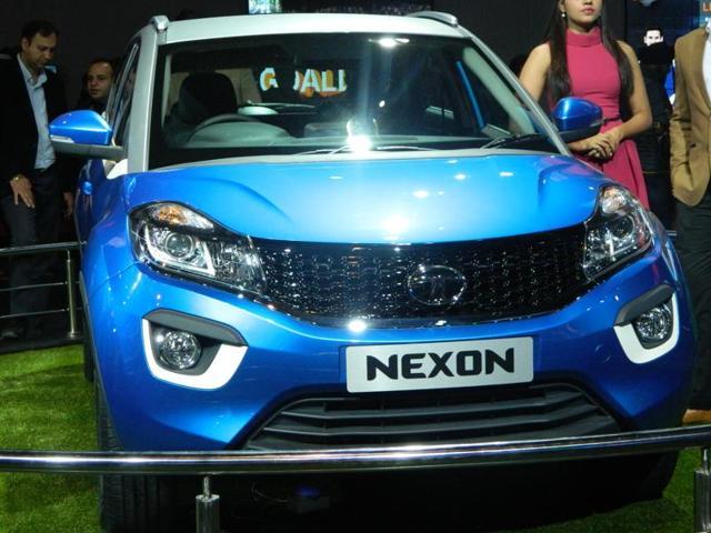 Indian carmaker Tata didn't remain behind and launched its concept car Nexon at the Auto Expo 2016. (Gulshankumar Wankar/ HT Photo)