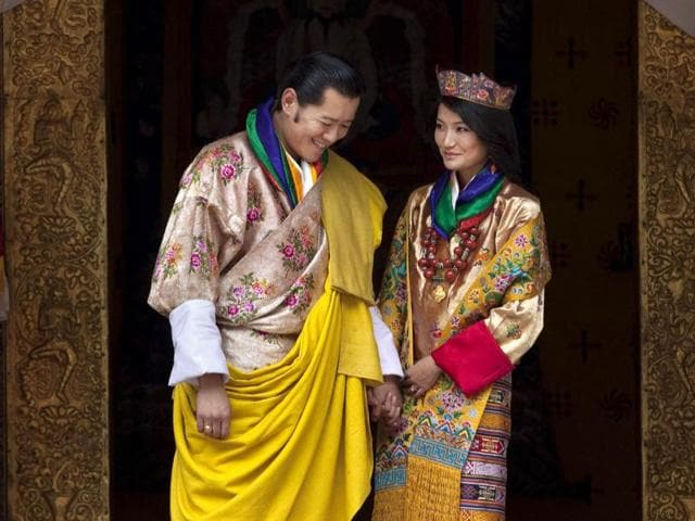 File photo of Bhutan's King Jigme Khesar Namgyal Wangchuck and Queen Jetsun Pemaas . The tiny Himalayan nation of Bhutan has a new crown prince. The Royal Media Office in capital Thimphu said Saturday that the baby boy was born on Friday.