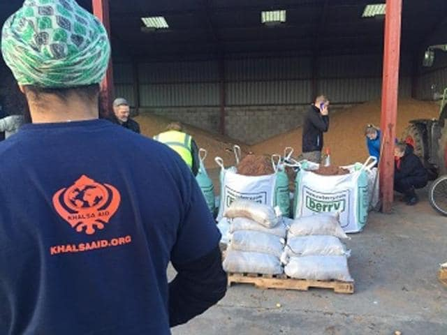 As they do during most floods, Khalsa Aid volunteers turned up in the tiny, submerged villages in Britain.