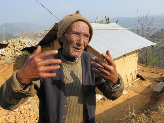 Del Bahadur Bajagain, 84, shares his experiences of the 1934 and 2015 earthquakes.