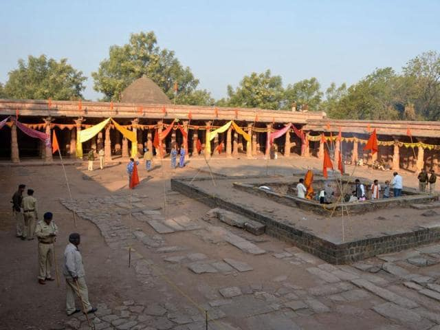 The Bhojshala temple in Dhar.
