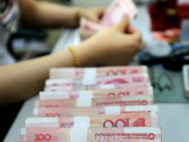 China's foreign exchange reserves have fallen to their lowest level in more than three years, the central bank announced on Sunday, as Beijing sells dollars to stop the yuan from depreciating further.