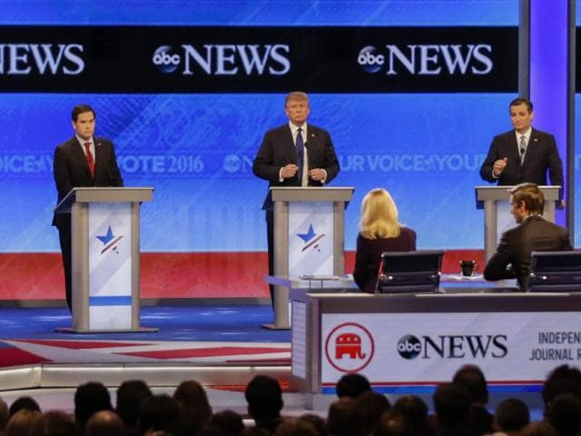Republican GOP debate,Marco Rubio,Chris Christie