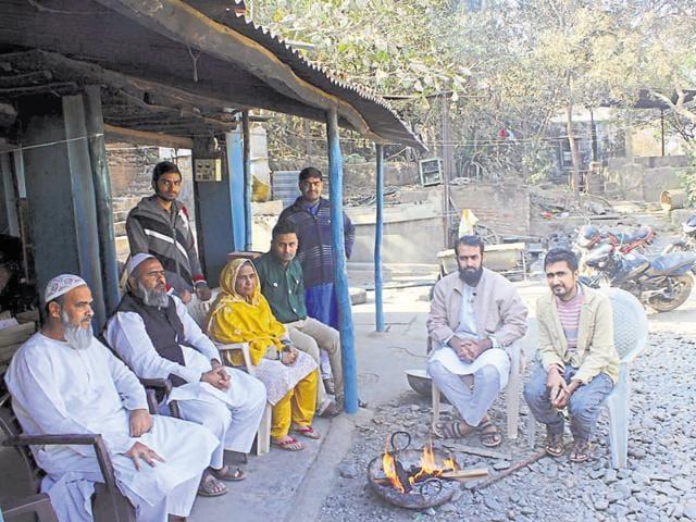 Yusuf Khatri's family in Bagh. Home minister Babulal Gaur has assured full protection to the family.