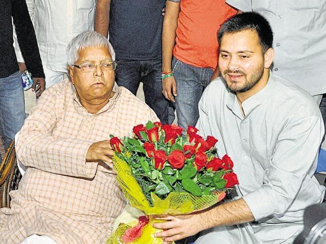 Lalu Prasad,Tejaswi Yadav,Nitish Kumar