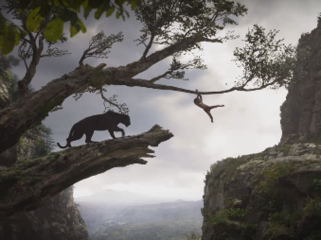 Neel Sethi and Ben Kingsley star as Mowgli and Bagheera in the new Jungle Book.