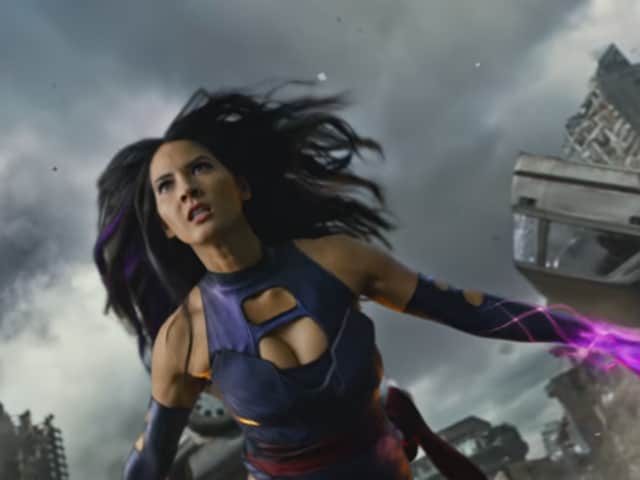 Olivia Munn's Psylocke steals the show.
