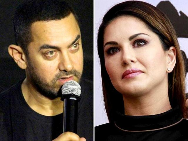 Aamir Khan meets Sunny Leone for lunch in Delhi