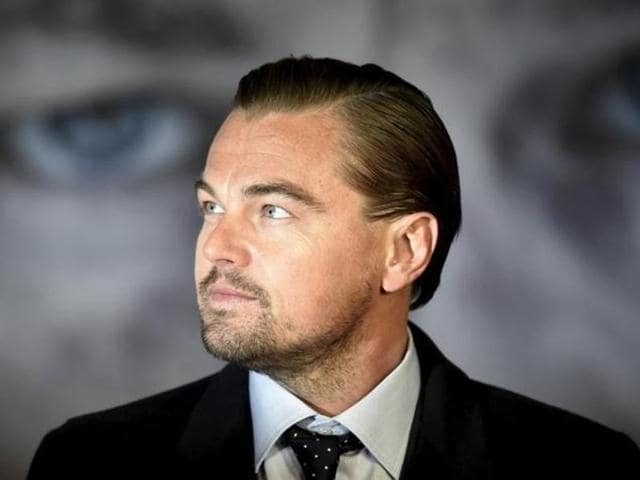 Actor Leonardo DiCaprio poses as he arrives for the British premiere of The Revenant. DiCaprio has been nominated for the Best Actor Oscar. (REUTERS)