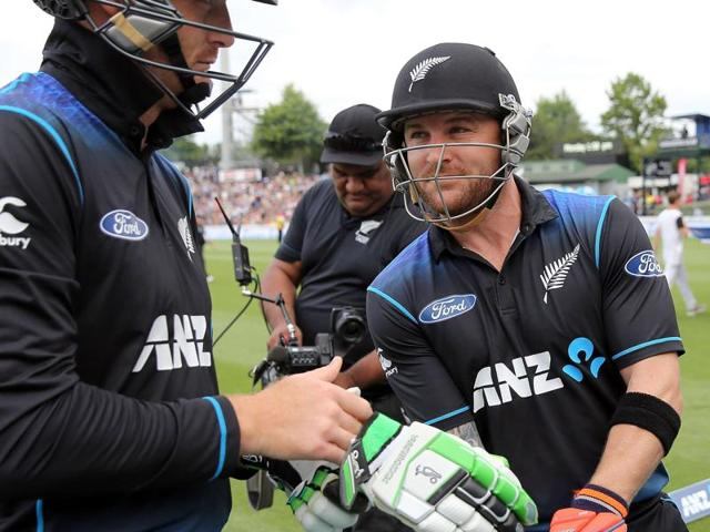 New Zealand's Brendon McCullum bats against Australia in the third one-day international.